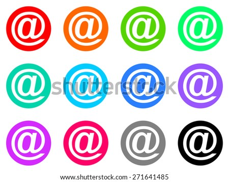 email vector icon set - stock vector