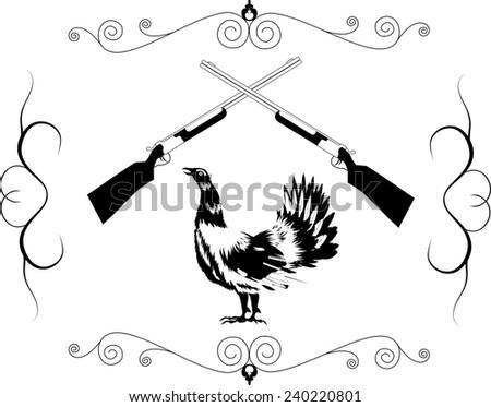 Emblem for hunting society - stock vector