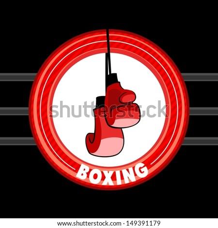 Emblem of boxing - stock vector