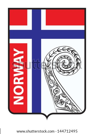 Emblem of Oslo, Norway. Useful for sticker or magnet