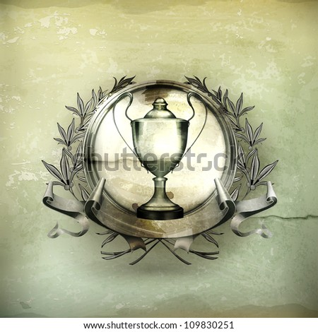 Emblem Silver, old-style vector - stock vector