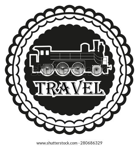 Emblem travel - stock vector
