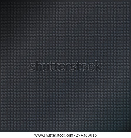 embossing metallic circle background in black tone, illustration vector