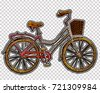 embroidery bicycle with basket. ...