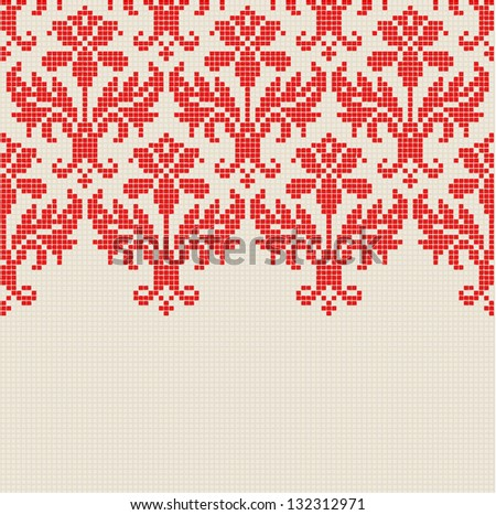 embroidery pattern, vector - stock vector