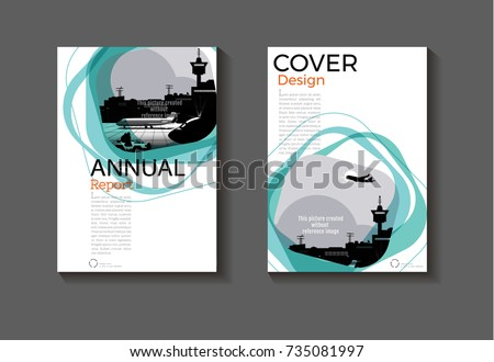 Emerald Green Modern Cover Design Modern Stock Vector