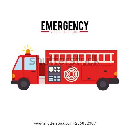 Emergency design over white background. - stock vector