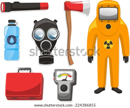Emergency elements set vector illustration collection. - stock vector