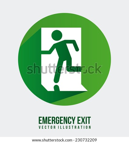 emergency exit graphic design , vector illustration - stock vector