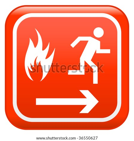 Emergency fire safety sign - stock vector