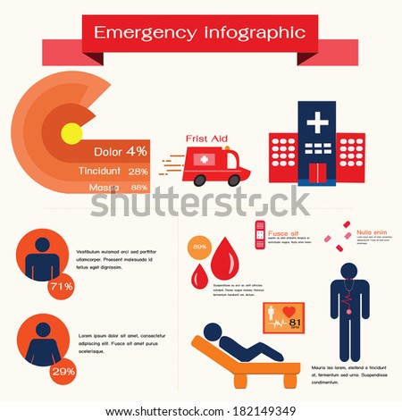 Emergency infographic,medical concept. - stock vector