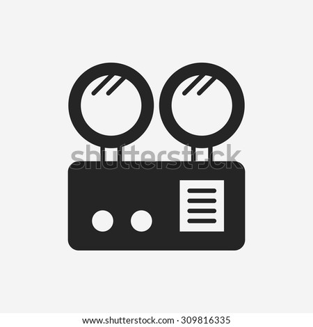 Emergency Lights icon - stock vector