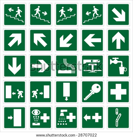 Emergency signs collection vector illustration - stock vector
