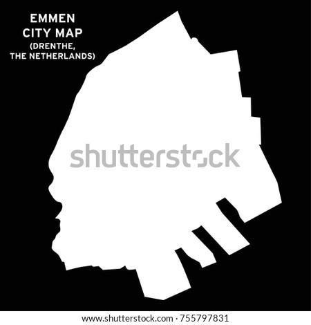 Emmen Drenthe Netherlands City Map Vector Stock Vector 755797831