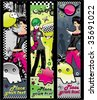Emo banners.To see similar,  please VISIT MY PORTFOLIO - stock vector