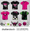 Emo t-shirts. To see similar design elements, please visit my gallery - stock vector