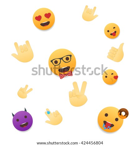 Emoji wallpaper emoticons seamless pattern emoji stock vector hd emoji wallpaper emoticons seamless pattern emoji faces and emoji hand icons on white background altavistaventures Image collections