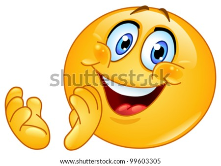 Emoticon clapping - stock vector