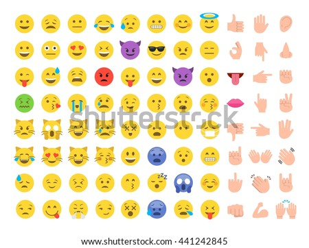 Emoticon emoji set. Emoticon emoji icon. Emoticon emoji design. Emoticon emoji flat. Emoticon emoji art. Emoticon emoji image. Emoticon emoji illustration. Emoticon emoji vector. Emoticon emoji eps 10 - stock vector