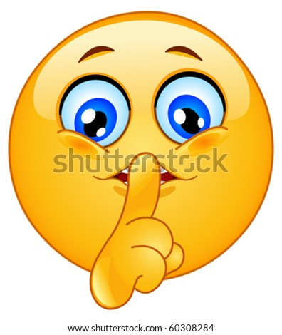 Quiet Please Testing Sign Shhh Sign Emoticon mak...