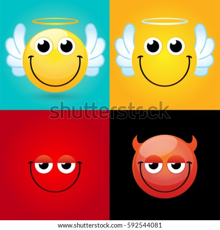 emoticons smileys icon set web happy image vectorielle