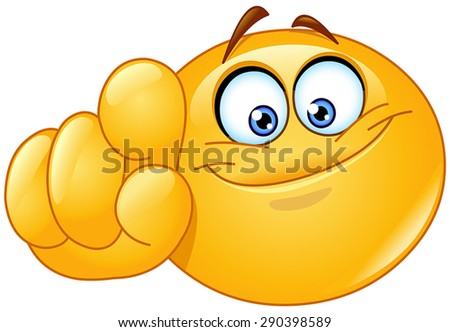 Emoticon pointing at you - stock vector