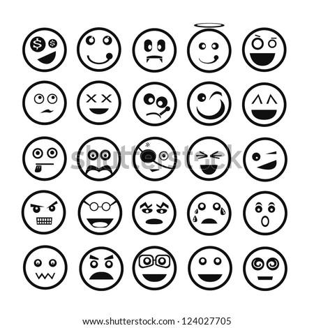 emoticon set - stock vector