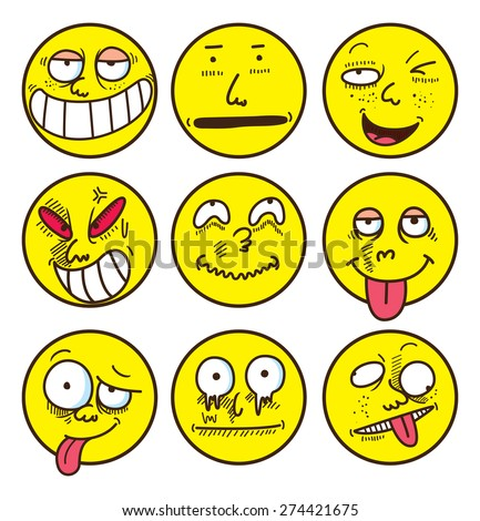 emoticon set - stock vector