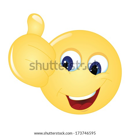emoticon thumps up showing positive mood