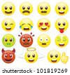 Emoticons Icon Set-smiles - stock photo