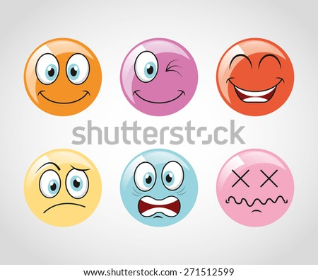 emoticons icons design, vector illustration eps10 graphic  - stock vector