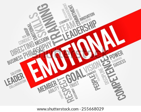 EMOTIONAL word cloud, business concept - stock vector