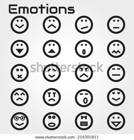 Emotions face icon - stock vector