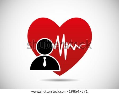 Employee Heartbeat Condition - stock vector
