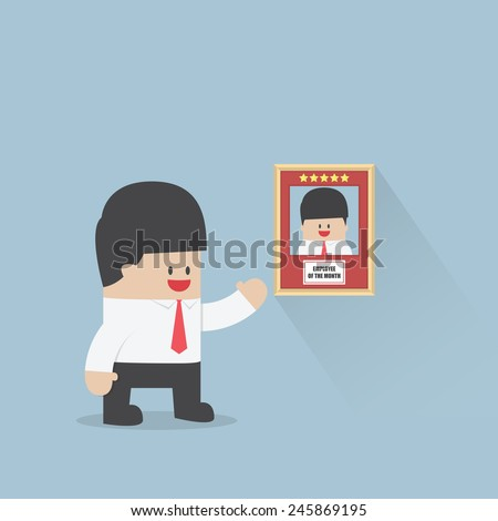 Employee of the month award, Business concept, VECTOR, EPS10 - stock vector