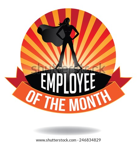 Employee of the Month burst icon EPS 10 vector royalty free stock illustration - stock vector