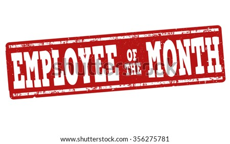 Employee of the month grunge rubber stamp on white, vector illustration - stock vector