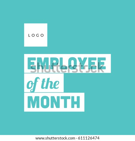employee month typography poster flat design stock vector 611126474