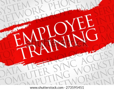 Employee Training word cloud concept - stock vector