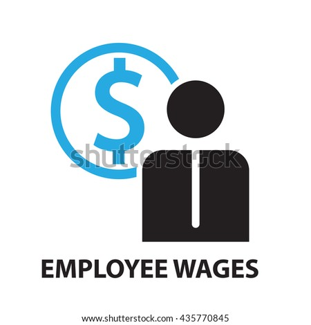 employee wages for business concept , icon and symbol - stock vector