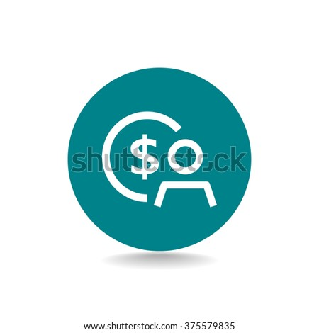 Employee wages icon - stock vector