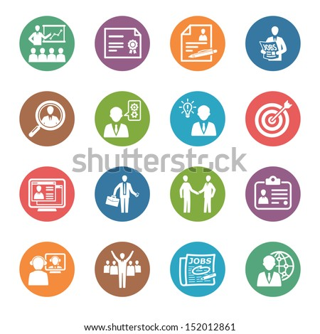 Employment and Business Icons - Dot Series  - stock vector