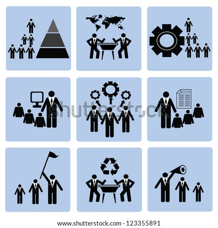 Employment and Business Icons,Vector - stock vector