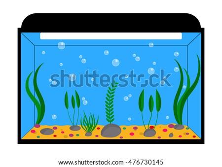 freshwater fish tank vector stock vector 1009006993 shutterstock rh shutterstock com fish tank free clipart fish aquarium clipart