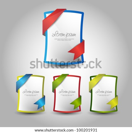 empty banner rollover with ribbons - stock vector