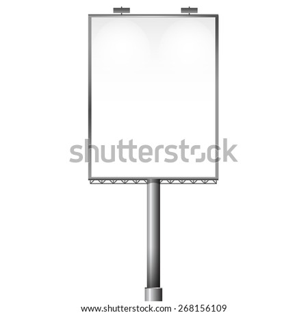 Empty billboard screen, for your advertisement and design vector design