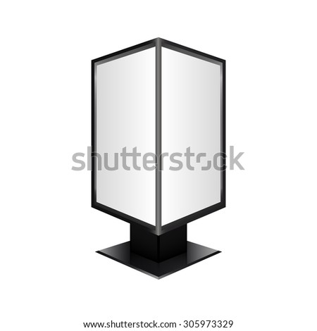 Empty billboard. Street billboard isolated on white background. vector - stock vector