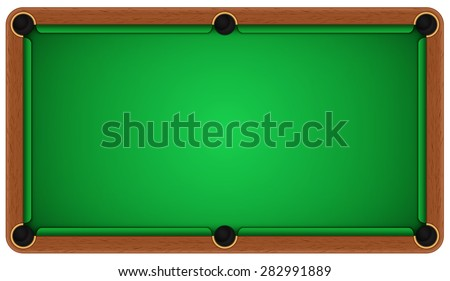 Empty billiard table on a white background. EPS 10 - stock vector