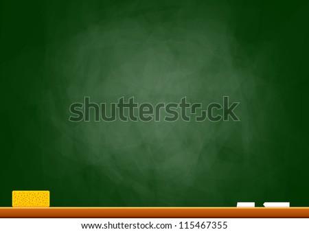 Empty blackboard - stock vector