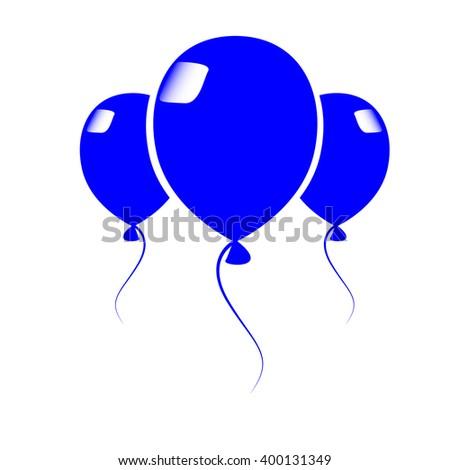 Empty blue balloon to place your concept. vector design - stock vector